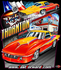 NEW !! Rick Thornton Outlaw Drag Radial Corvette Drag Racing T Shirts