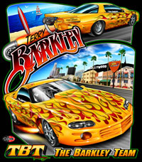 NEW !! Terry Barkley Custom Small Tire Drag Racing T Shirts