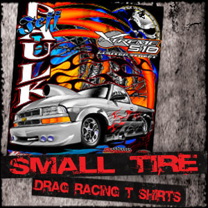 Small Tire, Outlaw 10.5, Drag Radial, X275 Racing T Shirts