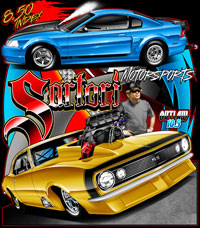 Satori Brothers Racing Multi Car Theme Drag Racing T Shirts