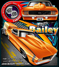 NEW!! Tom Bailey Worlds Quickest And Fastest Street Driven Camaro T Shirts