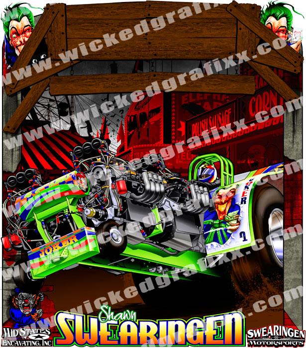 Custom Pulling Tractor T Shirts : Wicked grafixx custom truck tractor pulling t shirts