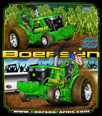 Boerson Farms Pro Stock Pulling Tractor Race T Shirts