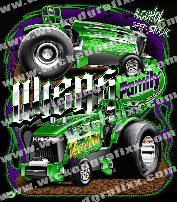 Wicked Grafixx Custom Truck - Tractor Pulling T Shirts