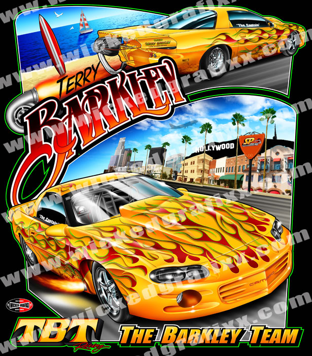 Wicked Grafixx Theme Based Custom Drag Racing T Shirts